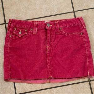 True Religion Hot Pink Mini Skirt
